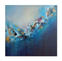 Original abstract painting, blue abstract painting, modern ...