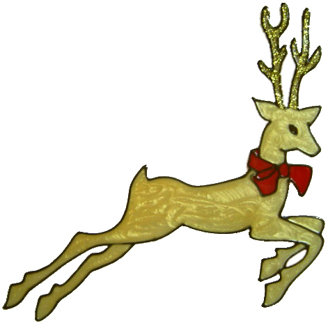 Handmade Reindeer Window Decoration