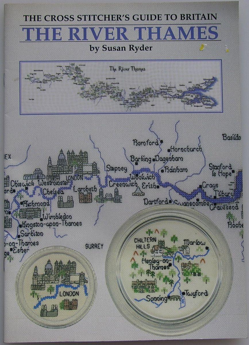 River Thames Map Susan Ryder English Counties Cross Stitch