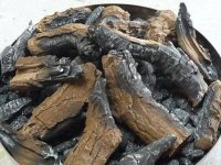 Brown Log Set for Outdoor Gas Fire Pit