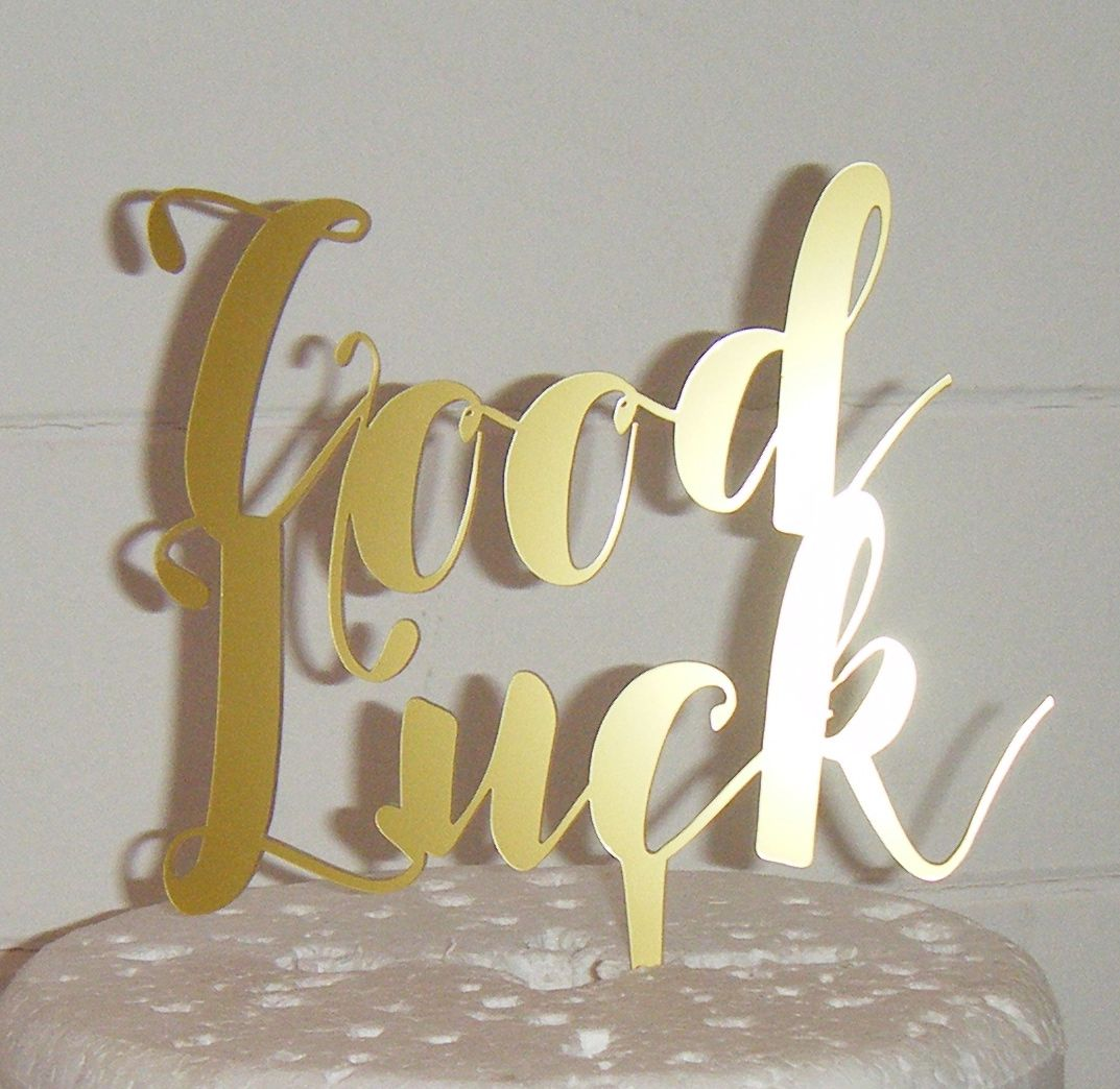 Good Luck Cake Topper