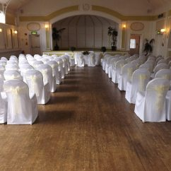 Chair Cover Hire Evesham White Bonded Leather Accent Venue Gallery Botanical Gardens 16 3 13