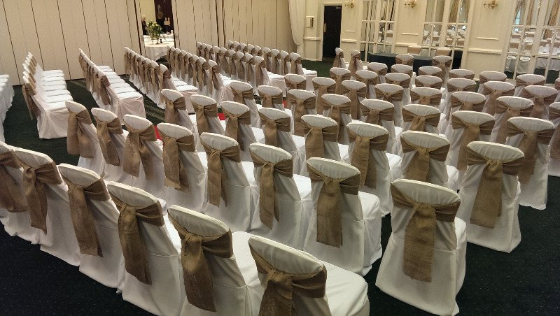 chic chair covers birmingham wooden doll high cover hire venue decoration flowers styling all work is carried out by weddings and we never use any third parties to for us