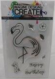 Imagine Design Create Flamingo Fun A6 stamps