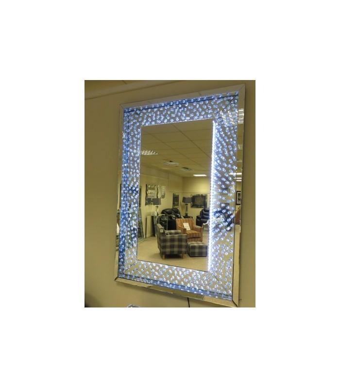 Floating Crystals Rhombus bevelled wall Mirror as seen in