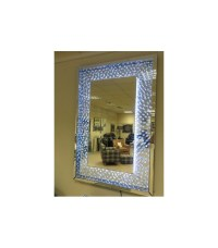 Floating Crystals Rhombus bevelled wall Mirror as seen in