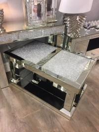 * New crush sparkle mirrored coffee table 52cm high x 60cm ...