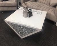 * New Diamond Crush Sparkle Crystal Mirrored White Coffee ...