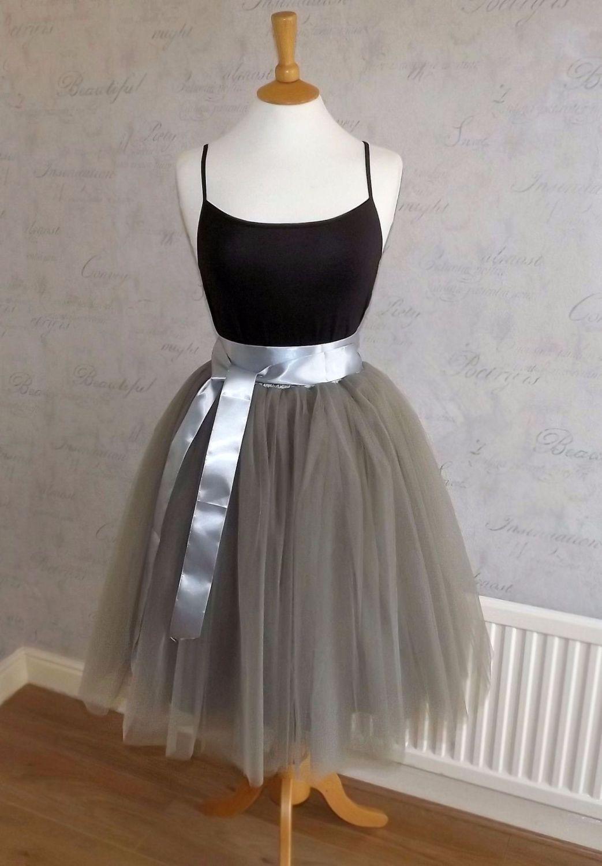adults tutu tulle skirts pink grey white black under
