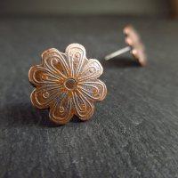 Handmade Copper Flower Studs