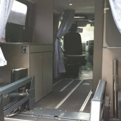 Bench Seating Kitchen Flooring Ideas Disabled Wheelchair Camper Conversion, Motorhome Self Build,