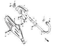 RTL250 Exhaust Parts