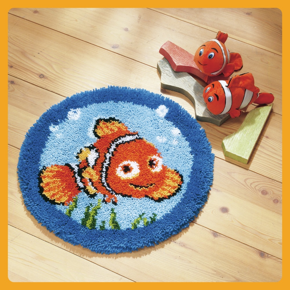 Vervaco Latch Hook Rug Kit Finding Nemo Knituk