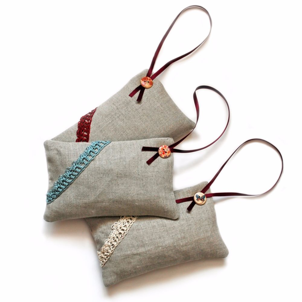 Linen lavender bags for decorating and scenting your home