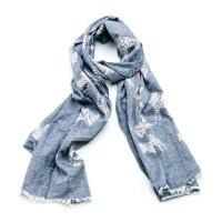 Blue Zebra Scarf | Animal print scarves | The Spotted ...