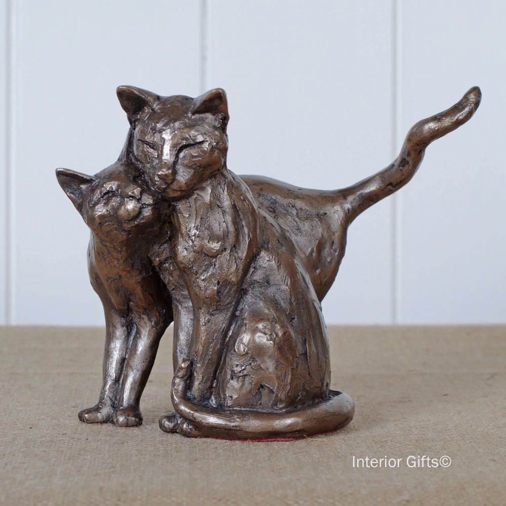 Making Friends Cat or Kitten Frith Sculpture S076 by Paul