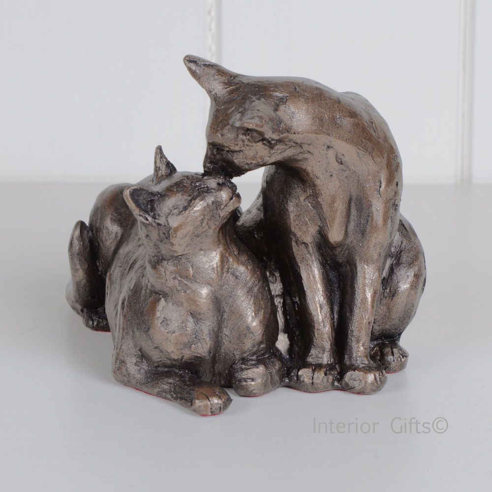 Felix  Oscar Frith Sculpture S096 Cat or Kitten by Paul Jenkins in Cold Cast Bronze Resin two