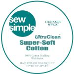 Sew Simple Super Soft 100 Cotton Wadding Quilt Batting 90 Wide Sold Per 25cm