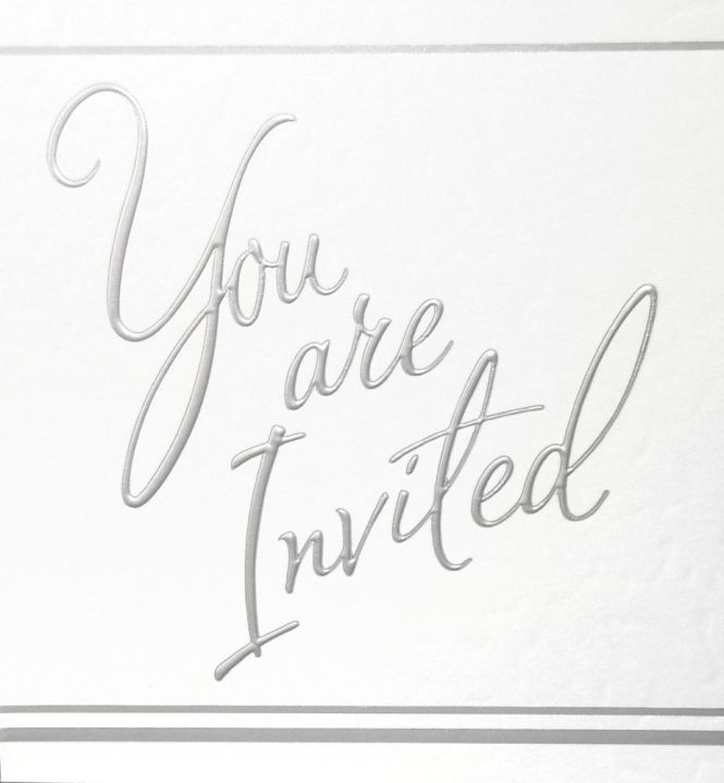 Silver Foil Party Invitations 5pk