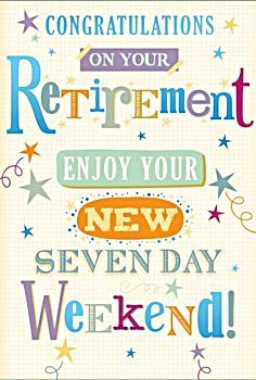 retirement cards enjoy your
