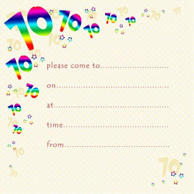 70th Rainbow Foil Birthday Party