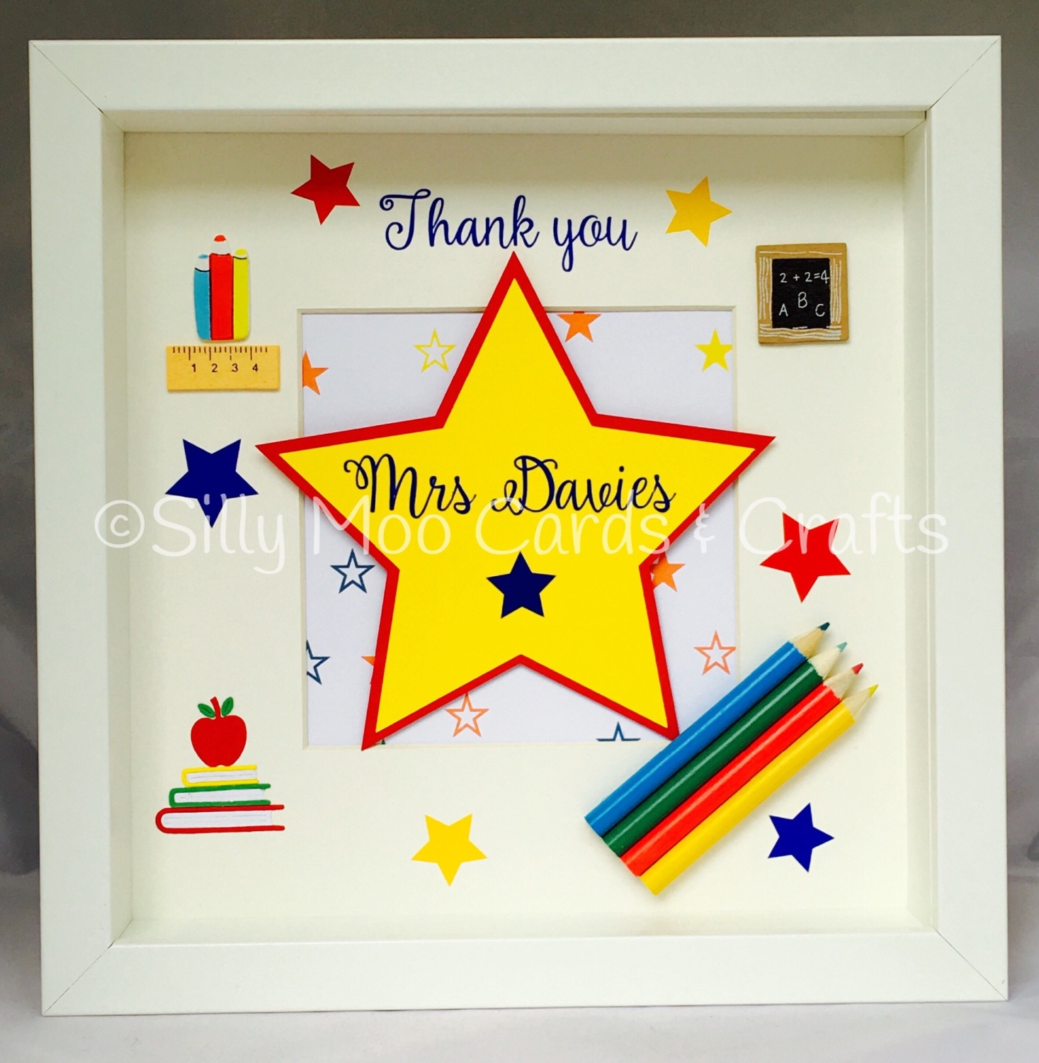 Personalised Teacher Box Frame Thank You Gift