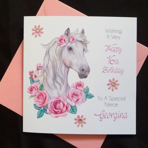 Handmade Birthday Elegant And Personalised Ideal For Horse Lovers