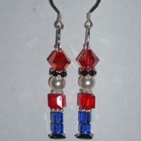 Handmade Swarovski Crystal Christmas Nutcracker earrings ...