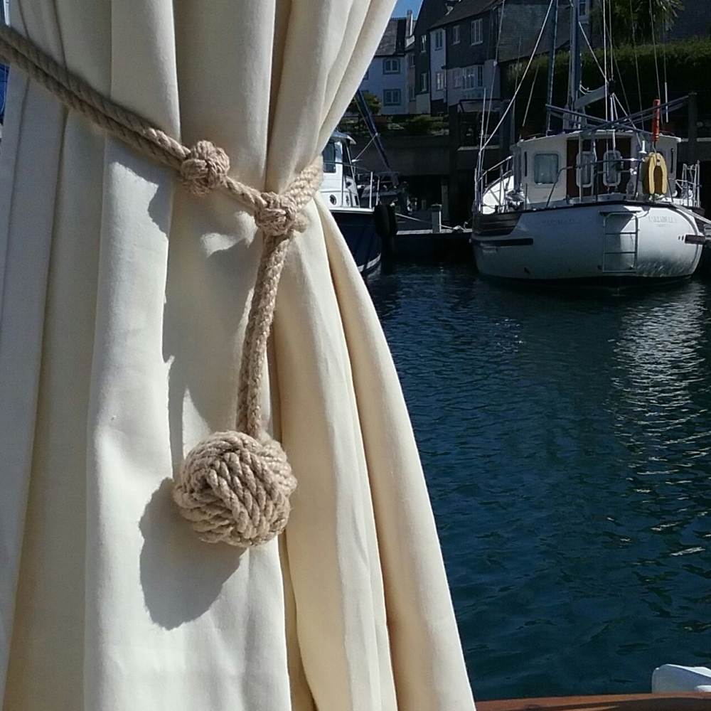 st mawes nautical rope curtain tie back