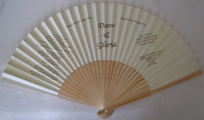 Paper Bamboo Wedding Invitation Program Fans