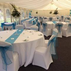 Chair Covers And Sashes Hire Office Waiting Chairs Wedding Decoration Ideas Cover Rental Banquet Of Table Cloths Turquoise Set Up 2014