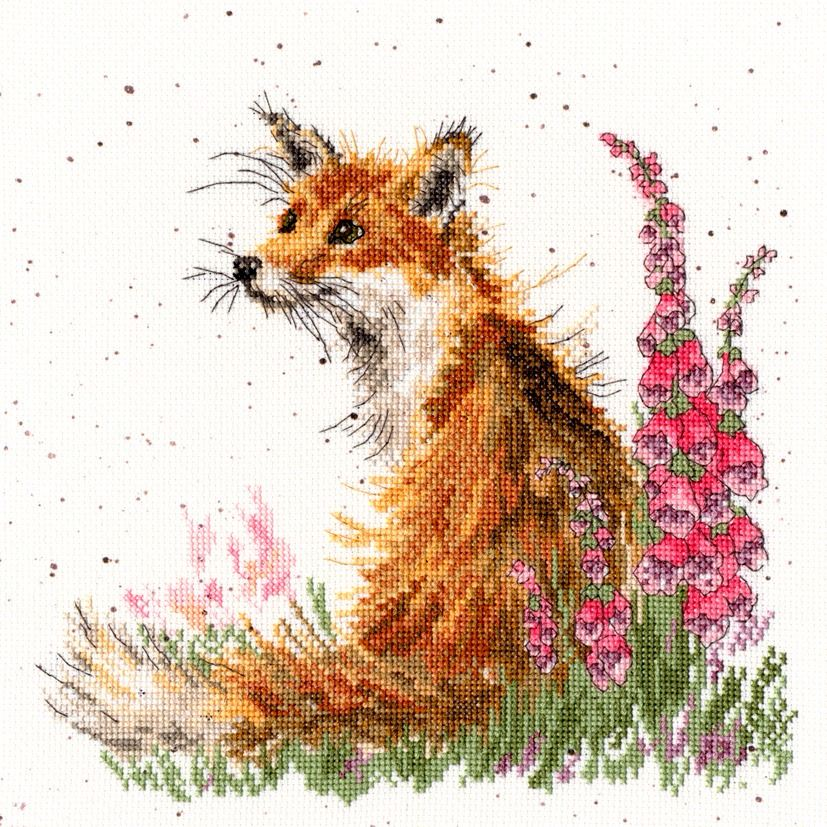 Amongst The Foxgloves Cross Stitch Hannah Dale