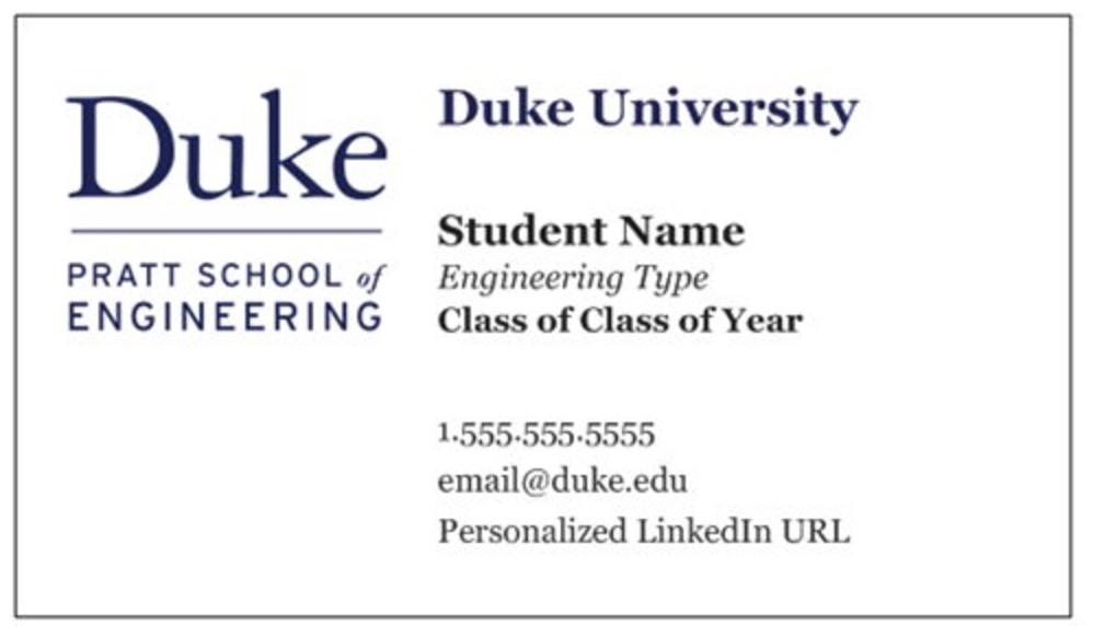 Fantastic Duke Business Cards Photos - Business Card Ideas - etadam.info