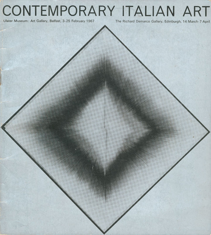 14 March - 7 April 1967. Exhibition catalogue (cover). Contemporary Italian Art.