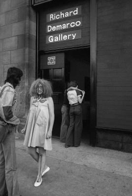 Photo by Mario 'Piccolo' Sillani Djerrahian, Outside Richard Demarco Gallery