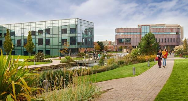 View of the Catalyst and Creative Edge buildings