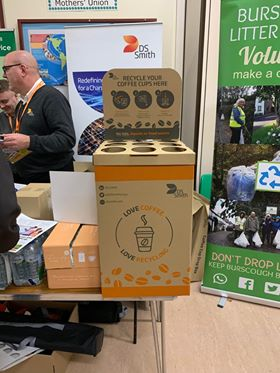 DS Smith Coffee box for recycling lids and cups