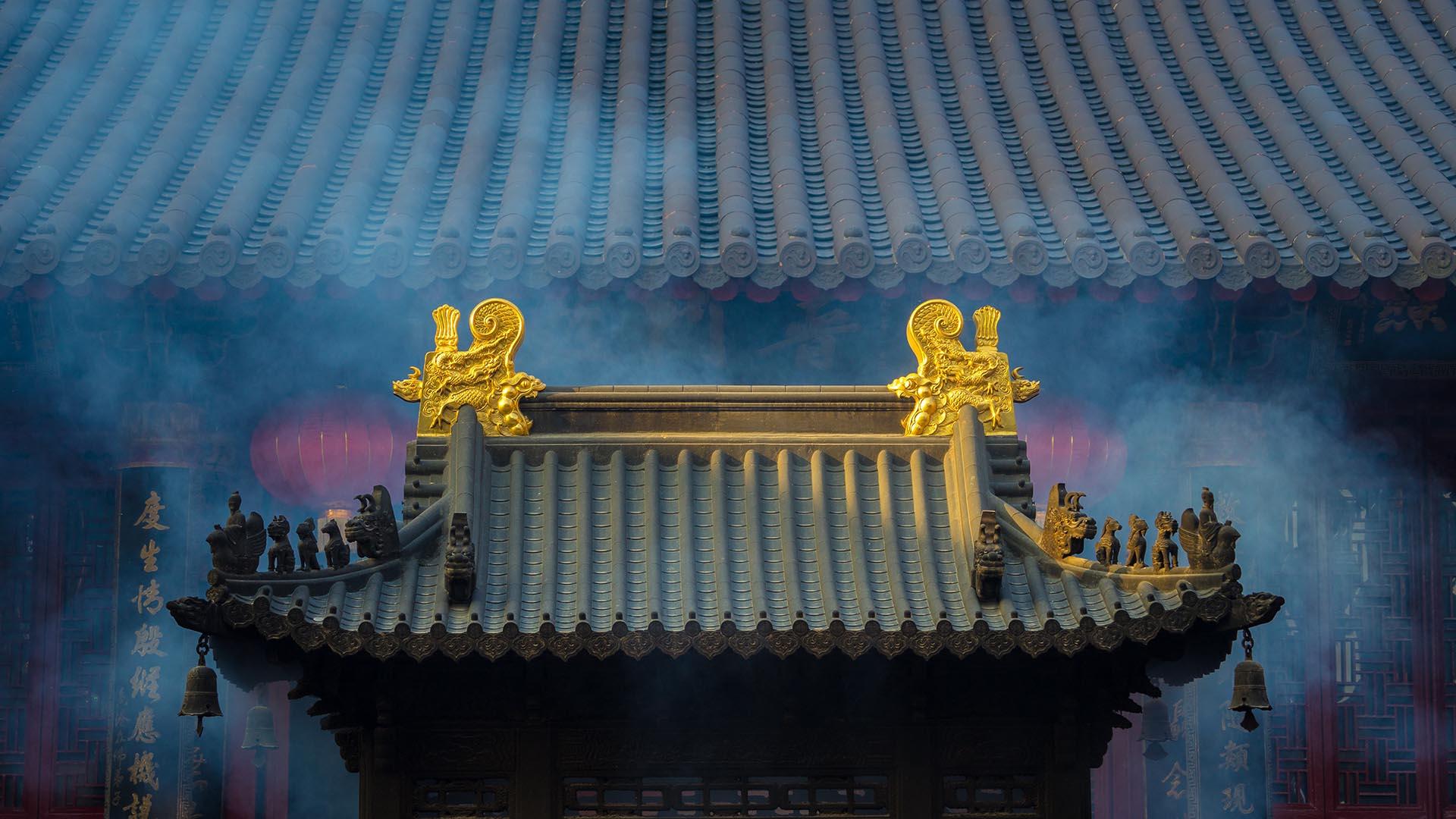 Mountain temple, Ningbo China