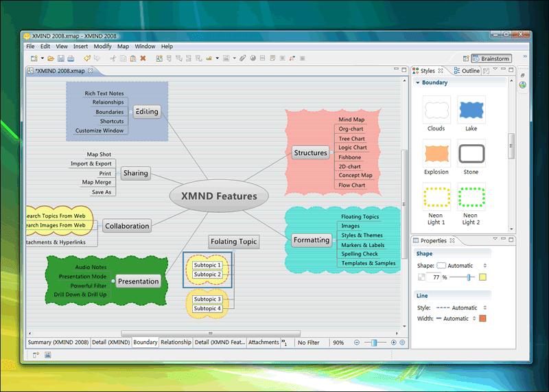 功能說明.圖例演示   XMind – 數位心智圖法最佳工具軟體