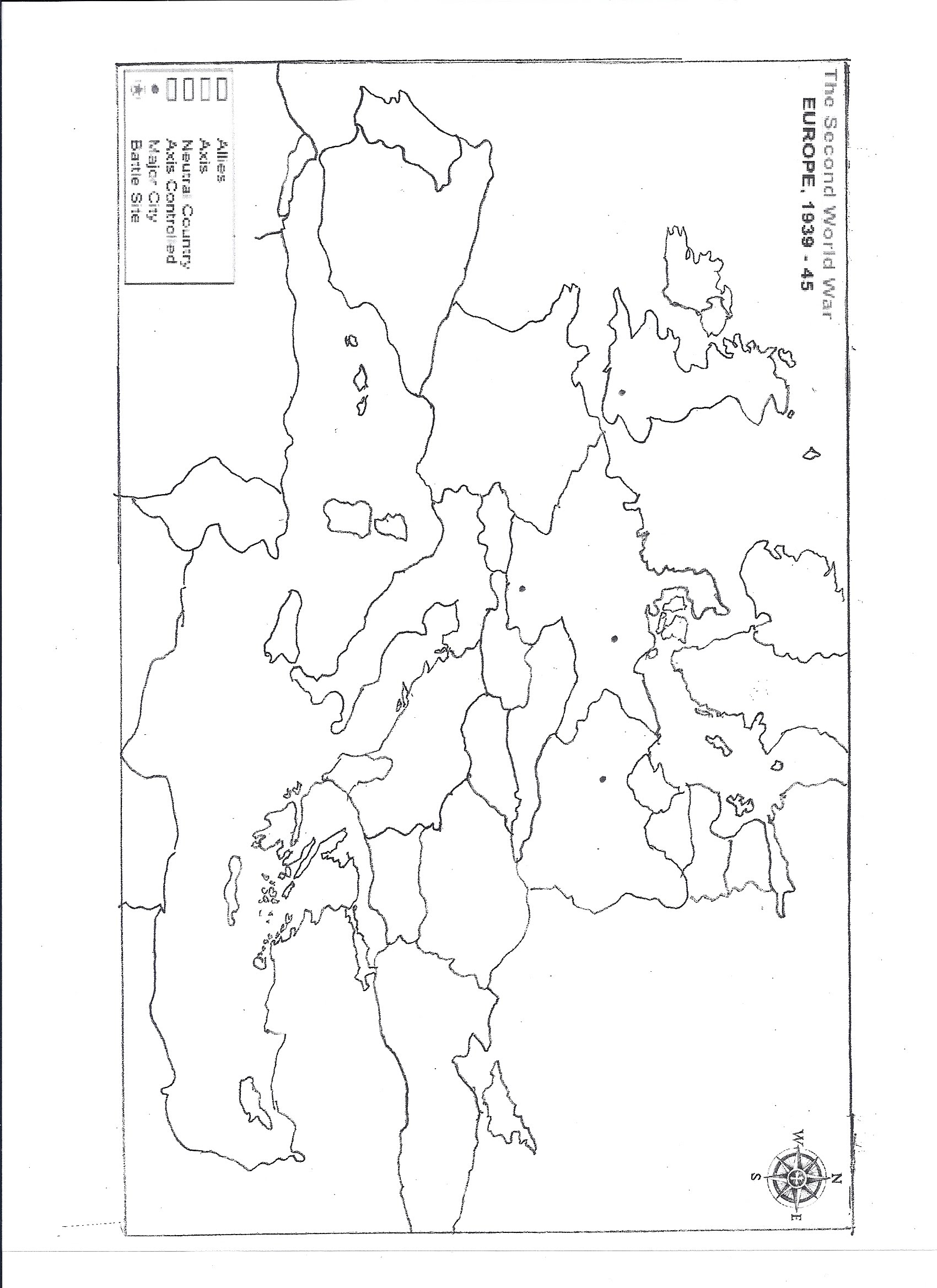 Civil War Map Blank Worksheet