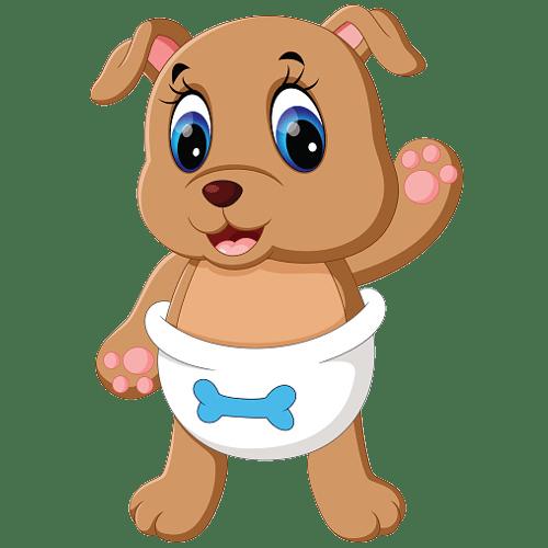 cute puppies dog cartoon