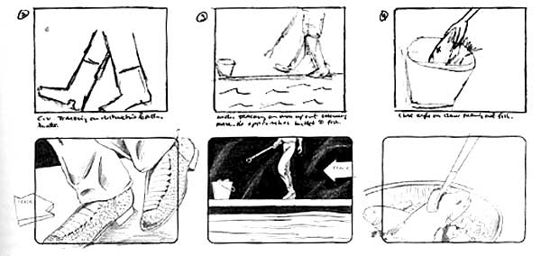2. Storyboard and 60 second commercial, individually or in