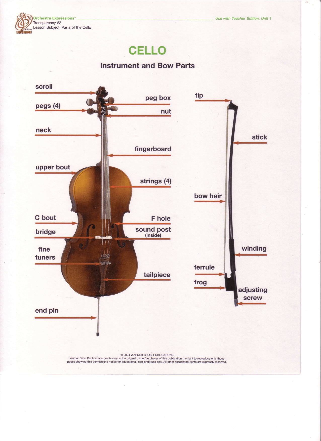 Viola Parts Worksheet