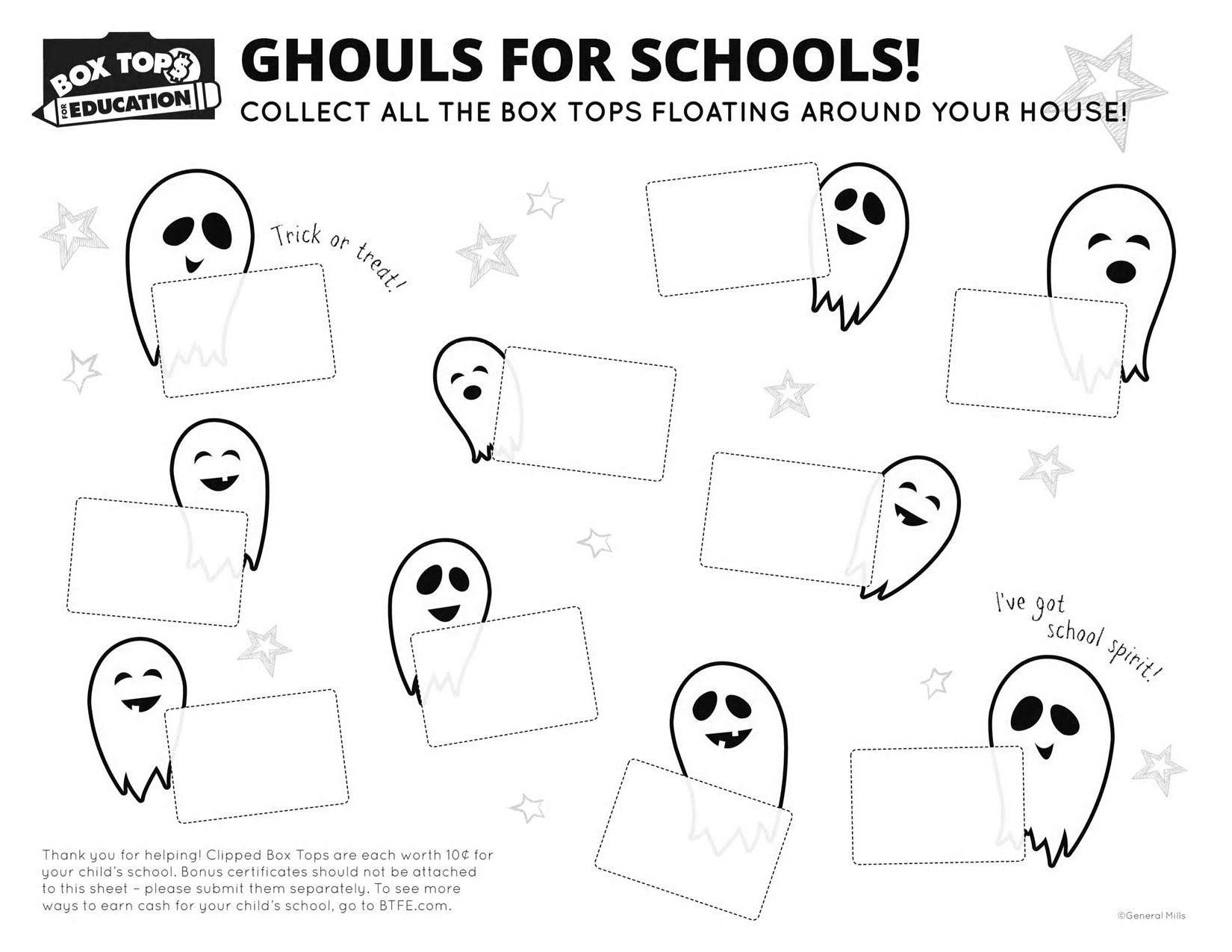 Box Tops For Education Pages Coloring Pages