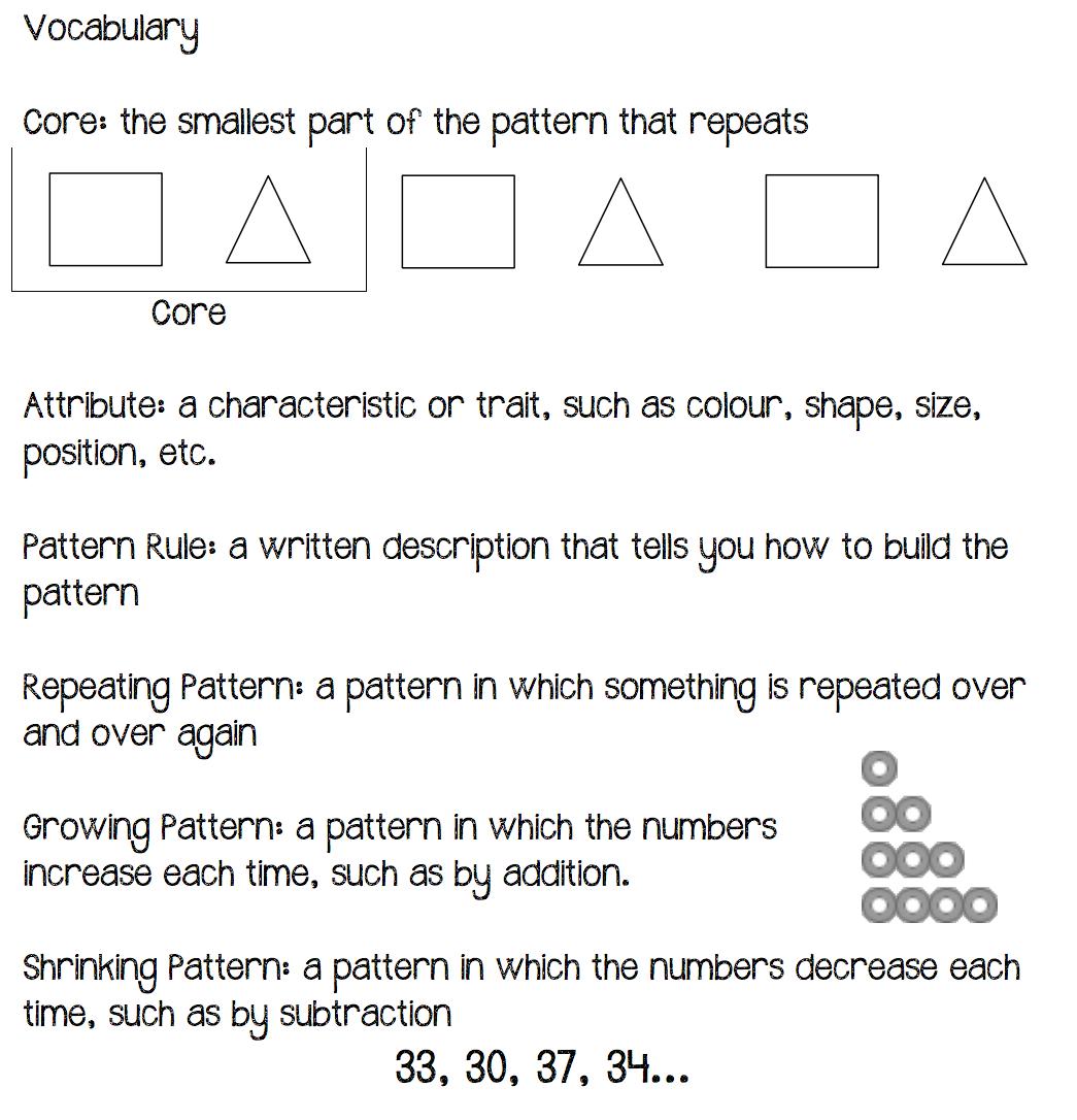 Growing Pattern Worksheet