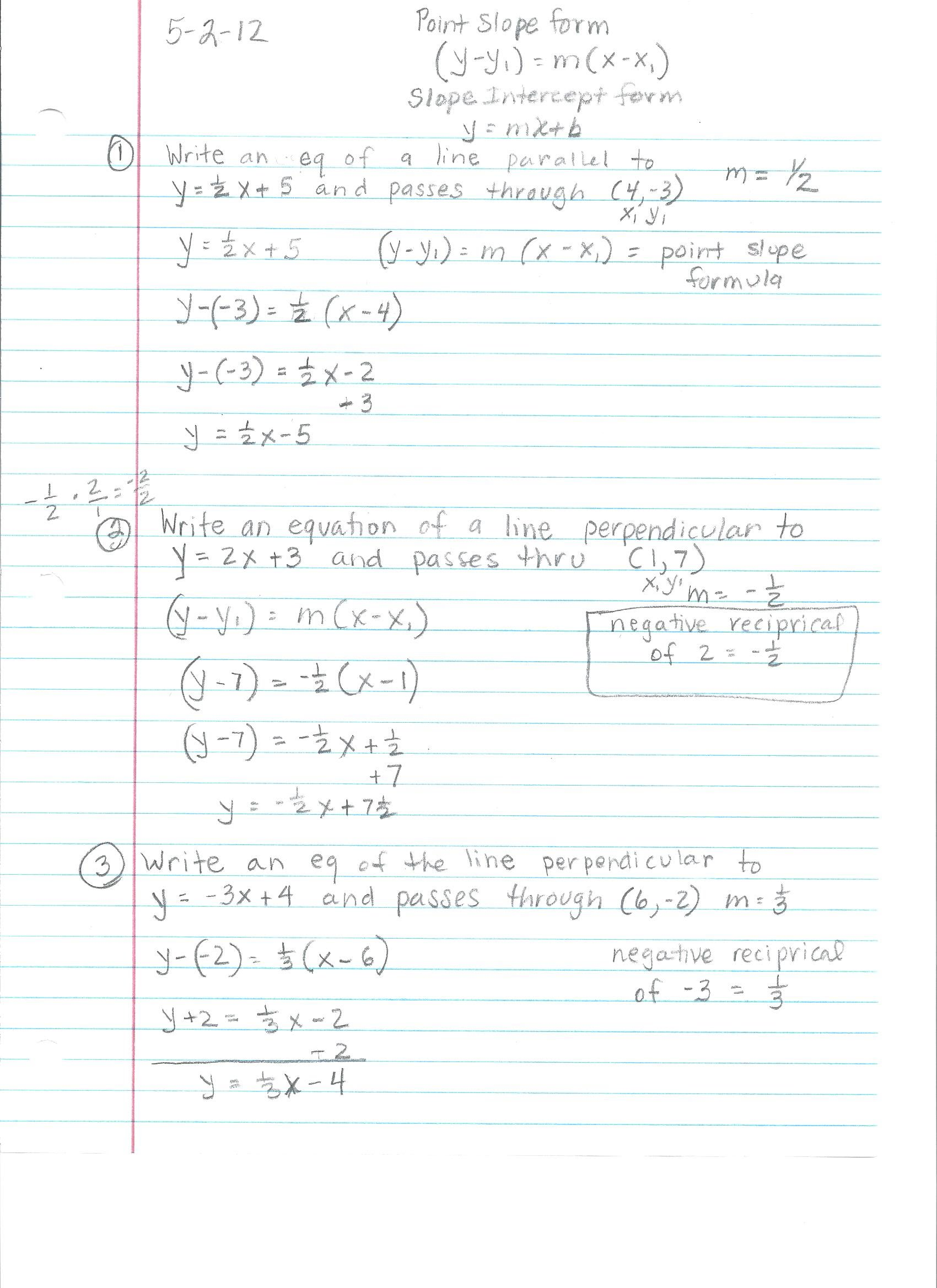 Algebra 1 Notes For 9th Grade