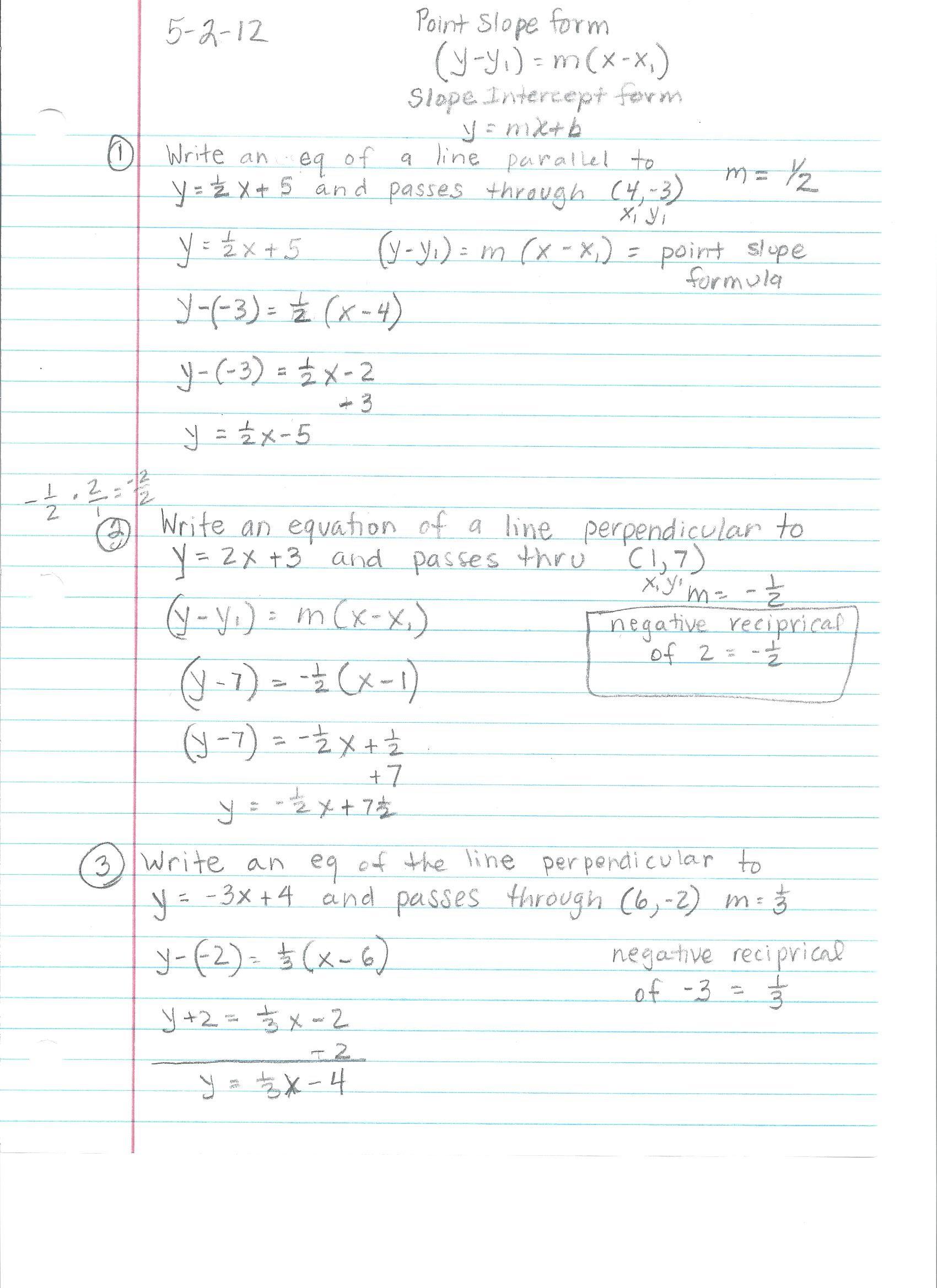 Algebra 1 Notes For 9th Grade