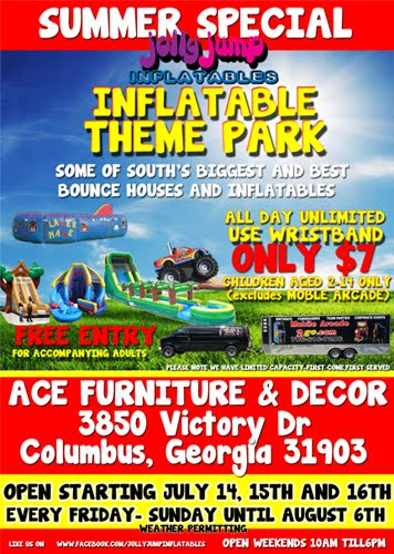 Ace Furniture Columbus Ga : furniture, columbus, Inflatable, Theme, Jolly, Inflatables:, Party, Rentals, Columbus,, Bounce, Houses, Water, Slides, Auburn,, Opelika,, Phenix, Mitchell, Georgia, Alabama.