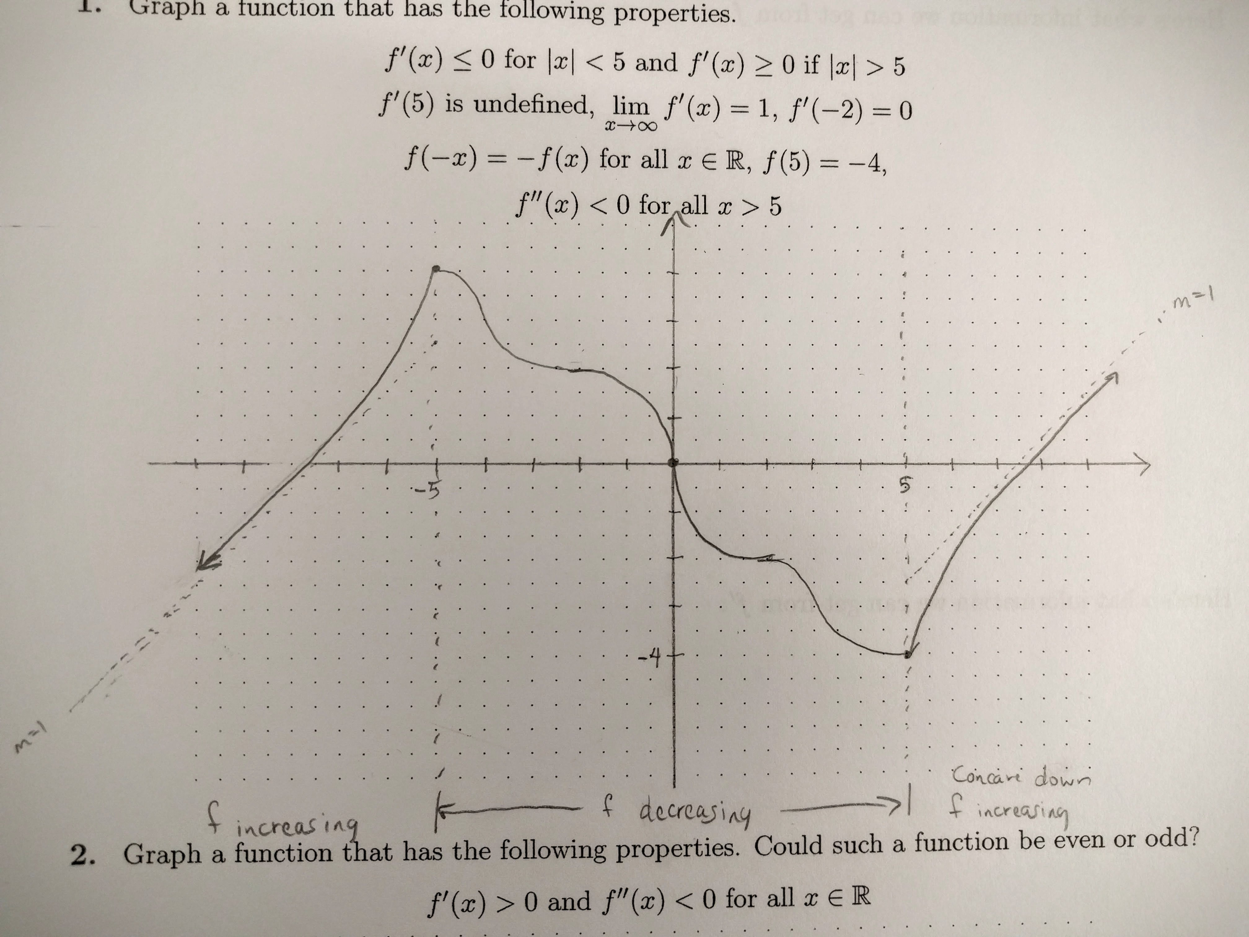 Calculus I Worksheet