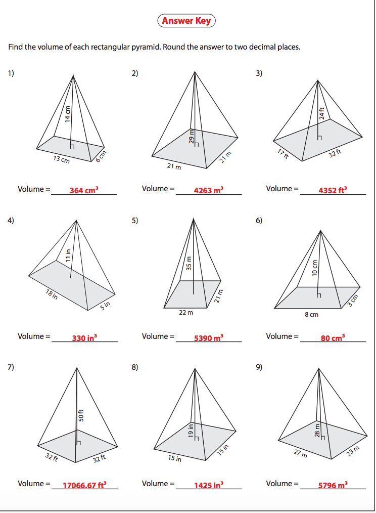 Printable Worksheets » Volume Of Rectangular Prism